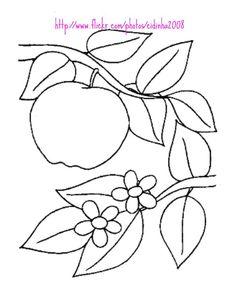 Maripê: Moldes e riscos de maçãs
