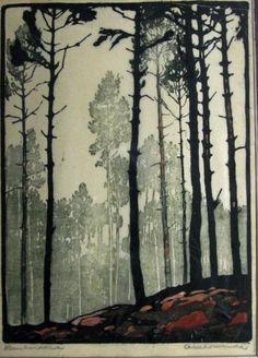 Arie Zonneveld, (1905-1941)  http://www.linosaurus.nl/a-20795749/zonneveld-arie-1905-1941/dennebos/