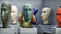 Pottery Sculpture, Sculpture Clay, Sculpture Ideas, Ceramic Sculptures, Ceramic Sculpture Figurative, Head Shapes, Art Plastique, Cool Artwork, Ceramic Art