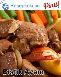 Resep Bistik Ayam Praktis Steak Recipes, Rice Recipes, Asian Recipes, Keto Recipes, Chicken Recipes, Dessert Recipes, Ethnic Recipes, Recipies, Desserts