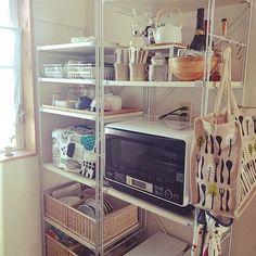 無印良品/無印 ユニットシェルフ/キッチン収納/エコバッグ/IKEA/無印良品 …などのインテリア実例 - 2014-09-18 12:24:48   RoomClip(ルームクリップ)