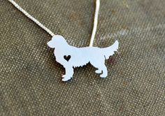 This sweet Golden Retriever necklace is cut with a jewelers saw and soldered by hand. It is then tumbled for strength and a shiny finish,