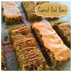 These Carrot Oat Bars are part cake, part cookie.  They are low in sugar and high in fiber, making them the perfect snack for toddlers and adults alike.