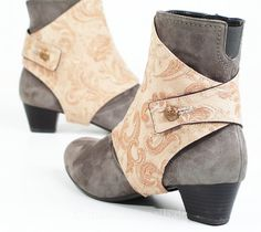 Spats made of brocade by mandaringold on Etsy, €59.00