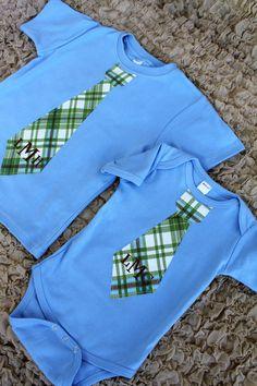 Monogrammed Green Brown Blue Plaid Ties :) Hello Wellington Ray Burkett