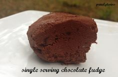 Single Serving Raw Chocolate Fudge (Paleo, Sugar-free Option, Nut/Seed-free, Vegan. Try carob for AIP)