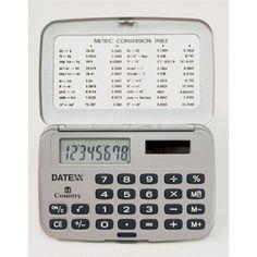Paquete de 5 Calculadoras horizontales, dual power 8 dígitos. Con tapa $403MXN