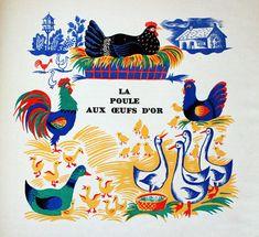 Chansons de l'herbe et de la rosée, illustrated by Maurice Tranchant in 1945