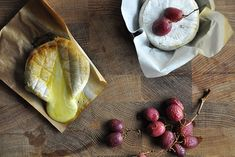 Hot Smoked Brie with Roast Grapes « Cooking Blog – Find the best recipes, cooking and food tips at Our Kitchen.