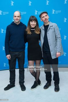 English-American actor Jonny Lee Miller, Bulgarian actress Anjela Nedyalkova and Scottish actor Ewen Bremner attend the 'T2 Trainspotting' photo call during the 67th Berlinale International Film Festival Berlin at Grand Hyatt Hotel on February 10, 2017 in Berlin, Germany.