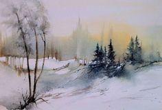 Artiste Hanna Jakobsen. paysages à l'aquarelle                              …