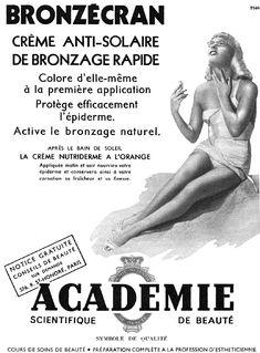 Publicité Acad�mie de Beaut� 1952