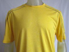 Champion Mens Vapor PowerTrain Short Sleeve T Shirt Yellow Large  #Champion #BasicTee