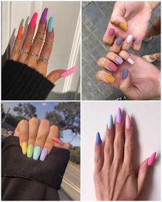 Unhas Multicoloridas