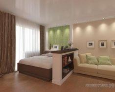 Как воплотить идею совмещения гостиной и спальни в одном помещении?— iHouzz.ru