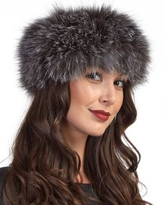 ab94ba524e5 Brave the elements in our cozy Silver Fox Fur Head Band. This one size fits