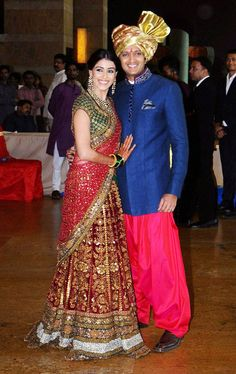 IN PICS Riteish Deshmukh's brother's wedding is part of Bollywood wedding - Riteish Deshmukh and Genelia D'Souza