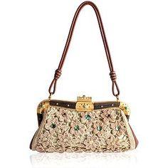 Valentino Crochet Framed Evening Shoulder Handbag | Valentino Handbags from Bag Borrow or Steal™