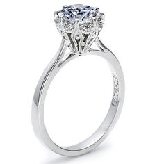 Tacori Pave Diamond Halo Setting - Item#: T 2504RD by Since1910.com     WOW!!!!!  Simple, elegant, beautiful! My favorite...