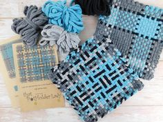 Potholder Loops and Pattern Kit for Harrisville Designs Pro Potholder Loom, Potholder Patterns, Potholders, Loom Patterns, Cute Canvas, Weaving Projects, Cotton Bag, Loom Knitting