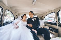 Bride en route to St. Andrew Avellino Church on her wedding day. Captured by NYC wedding photographer Ben Lau.