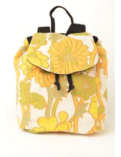 Beyond Retro Label Tapestry Backpack Multi-colour