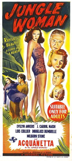 1940S Movie Posters | Jungle Woman (1944, USA)