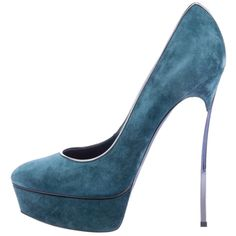 Pre-owned Casadei Teal Platforms ($399) ❤ liked on Polyvore featuring shoes, pumps, casadei, teal, stiletto pumps, platform stilettos, stiletto high heel shoes, platform stiletto shoes and teal platform pumps