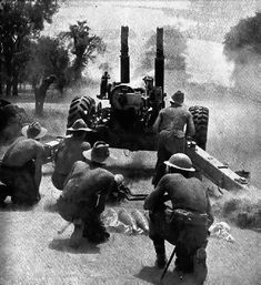 Troops of the Indian Division fire a artillery gun on Japanese positions at Mandalay, March Ww2 History, Military History, Burma Campaign, Ww2 Weapons, Ww2 Photos, Military Diorama, National Archives, British Army, War Machine
