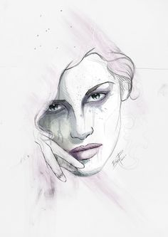 Digital. by THEMADFACTORY estudio , via Behance Illustration Art, Behance, Watercolor, Digital, Inspiration, Portraits, Behavior, Biblical Inspiration, Watercolour