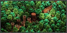http://saymygame.com/big-forest-big-dead-tree-v2-voxelart/ I love this
