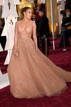 Jennifer Lopez in Elie Saab #Oscars 2015