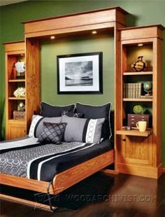 Murphy Bed Plans - Furniture Plans and Projects | WoodArchivist.com #spacesavingfurniture