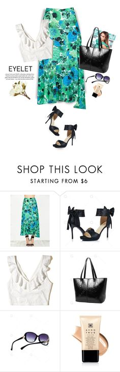 """Eyelet/Print skirt"" by yexyka ❤ liked on Polyvore featuring Hollister Co., Avon and Pier 1 Imports"