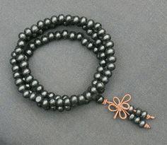 6mm Tibet Buddhist 108 Woody Dark Black Prayer Beads Mala Necklace Wrist Beads