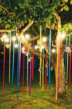 Celebrating outdoor birthday parties are one of the most fun filled events but you can make it look very interesting by appropriate décor styles. When planning for a kid's birthday party you can ad… Summer Party Decorations, Outdoor Birthday Decorations, Bohemian Party Decorations, Festival Decorations, Garden Decoration Party, Tree Decorations Wedding, Coachella Party Decorations, Boho Garden Party, Backyard Decorations