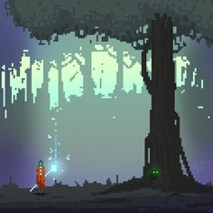 ArtStation - Pixel art sketches and designs, Autumn Rain Turkel