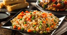 If your only experience with fried rice is Chinese take-out, you'll love this fresher-tasting, classic gluten-free fried rice recipe! Easy Smoothie Recipes, Rice Recipes, Cooking Recipes, Vegetarian Recipes, Gluten Free Fried Rice Recipe, Fried Rice With Egg, Chinese Vegetables, How To Cook Shrimp, Gourmet