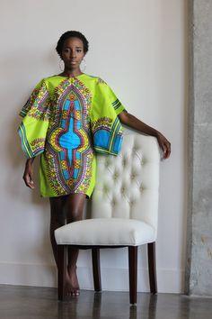 African clothing African Ankara Dashiki Dress African by Quistt  ~African fashion, Ankara, kitenge, African women dresses, African prints, African men's fashion, Nigerian style, Ghanaian fashion ~DKK