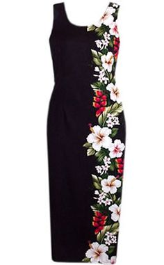 Beautifully tailored for a figure-flattering fit. Hawaiian sleeveless sheath long dress is cut from a soft floral fabric in fun summery colors. Inspired by Hawaii, made in Hawaii. - Back zip closure -