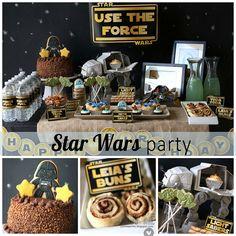 star wars birthday party by Kovyrzina Roussakis Star Wars Birthday, Dinosaur Birthday Party, 2nd Birthday Parties, Birthday Fun, Birthday Ideas, Party Dips, Party Party, Decoracion Star Wars, Aniversario Star Wars