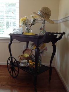 Alissa's tea cart