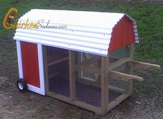 """The Barn"" coop for 6-10 chickens"