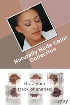 Get the Naturally Nude Color Collection at ipsy.com! These multi-purpose pigments are super versatile and can be used on eyes, lips, nails, hair and face. Mix and match the pigments to take your look from subtle to intense with some serious color payoff. Check out ipsy.com and grab your stack of shades today.