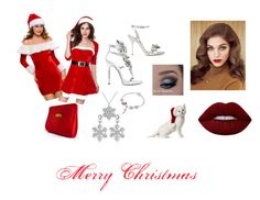 """""""CHRISTMAS"""" by madmadam-cdx ❤ liked on Polyvore featuring WithChic, Giuseppe Zanotti, Christian Dior, Sophia Webster and Lime Crime"""