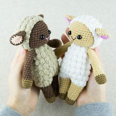 Crochet an adorable amigurumi sheep in your favorite colors using our Cuddle Me Sheep Amigurumi Pattern!