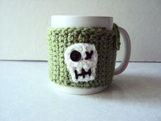 Striped Mug Cozy Coffee Mug Cozy Crochet Mug Cozy by KnotsnMore