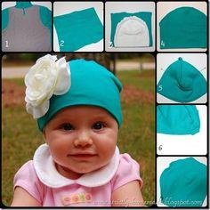 upcycled t-shirt hat Ideias Para Artesanato 6903b6ff078
