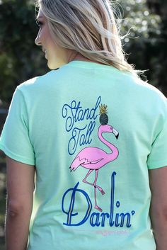 Flamingo Stand Tall Darling Surf Womens Pack Cotton Crew Socks
