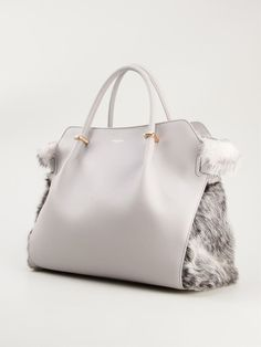 Nina Ricci Medium Fur Panel Tote - Tender - Farfetch.com